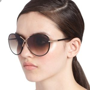 Tom Ford 'Rosie' Black/Gold Women's Sunglasses